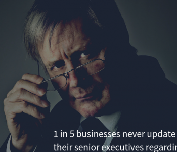 1 in 5 businesses never update their senior executives regarding cyber security activities.